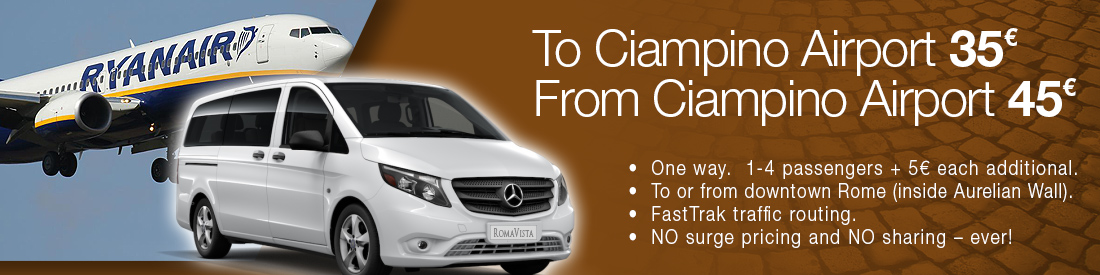 Rome Ciampino Airport Car Transfers