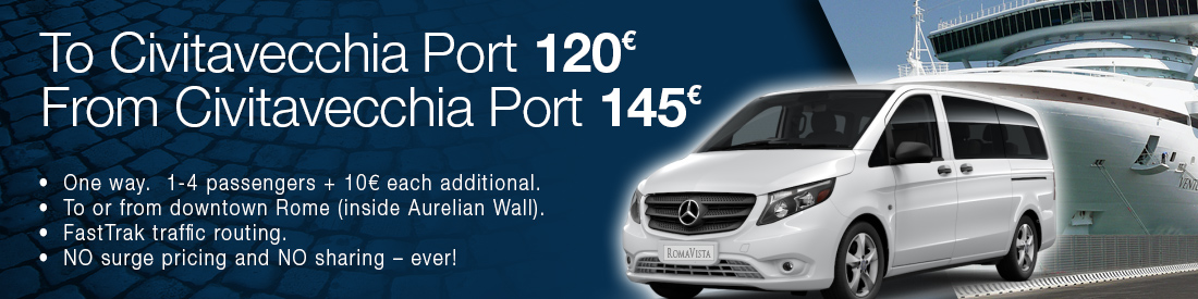 Rome Civitavecchia Port Car Transfers